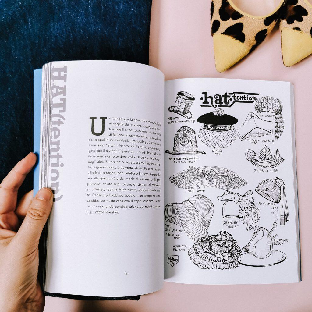 Una pagina del nuovo libro di Matteo Guarnaccia Mix & Match, per la recensione fatta da Isabella The Fashion Cherry Diary Qual è il significato dei vestiti che indossiamo